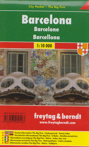 Barcelona city pocket mapa 1:10 000 Freytag & Berndt